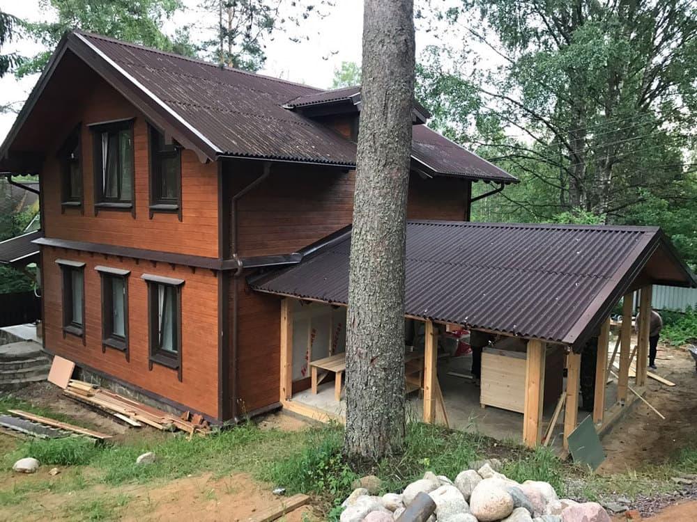Ремонт деревянного фасада летом - СТАЛО