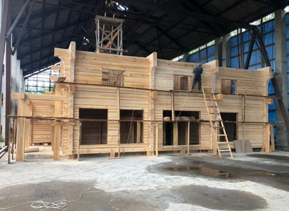 Строительство срубов из бревна под ключ