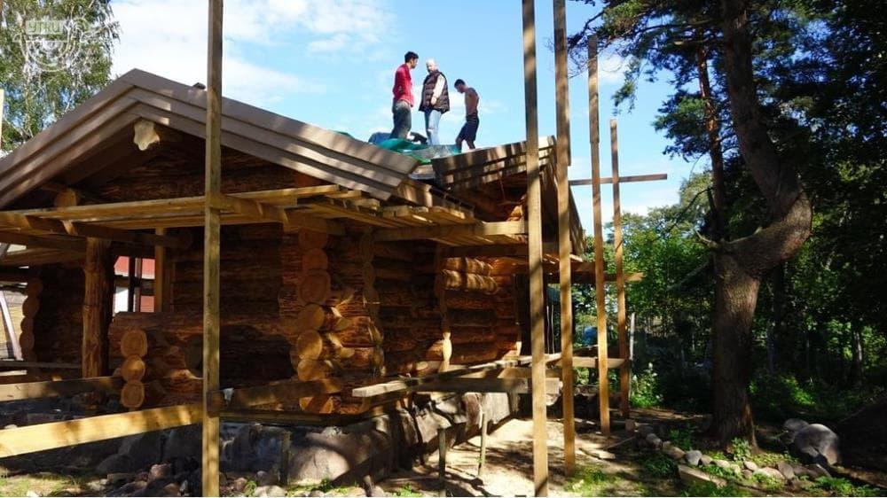 Компания УтКи строит сруб дома под ключ теплой весной